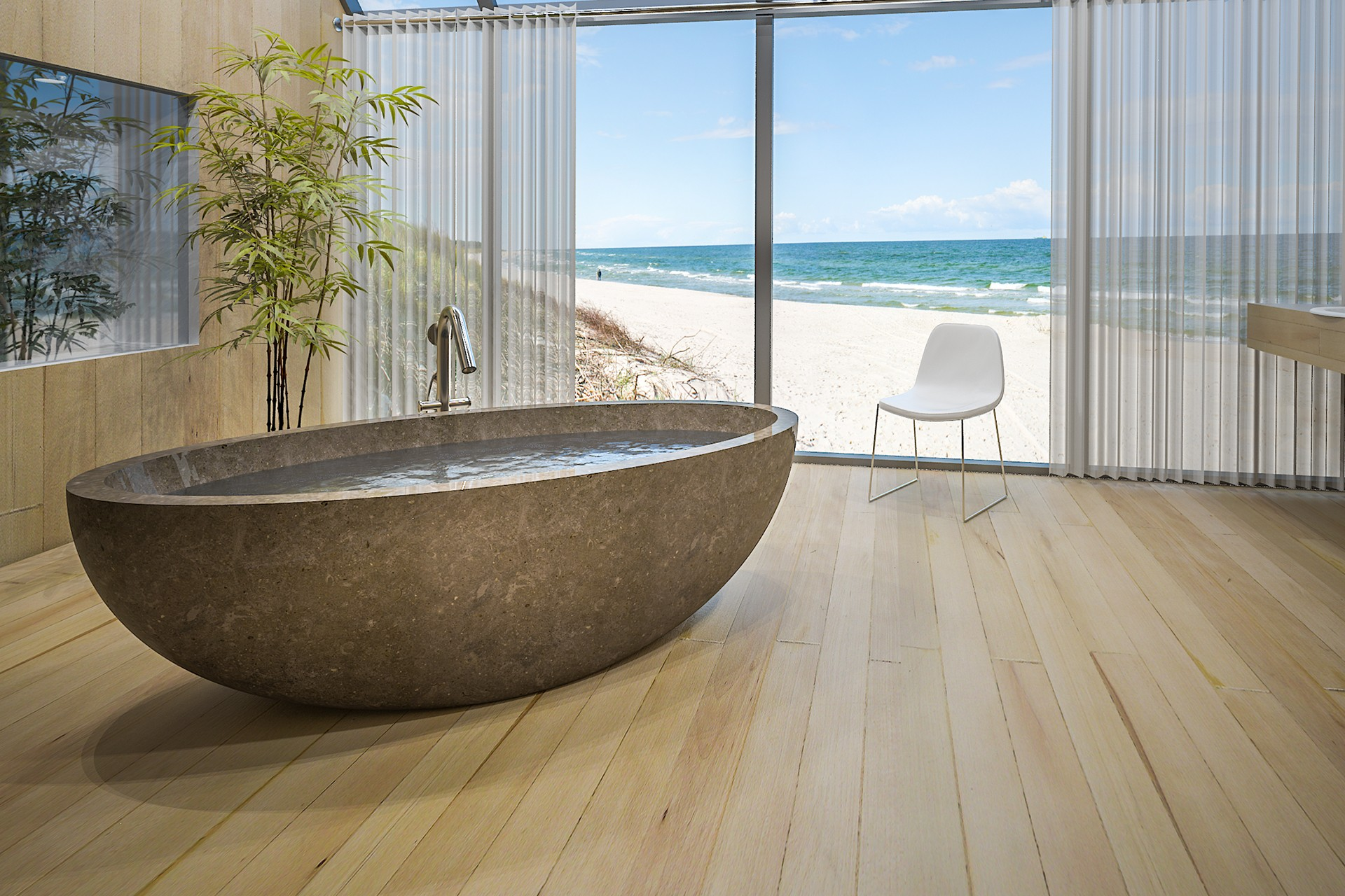 limestone bathtub