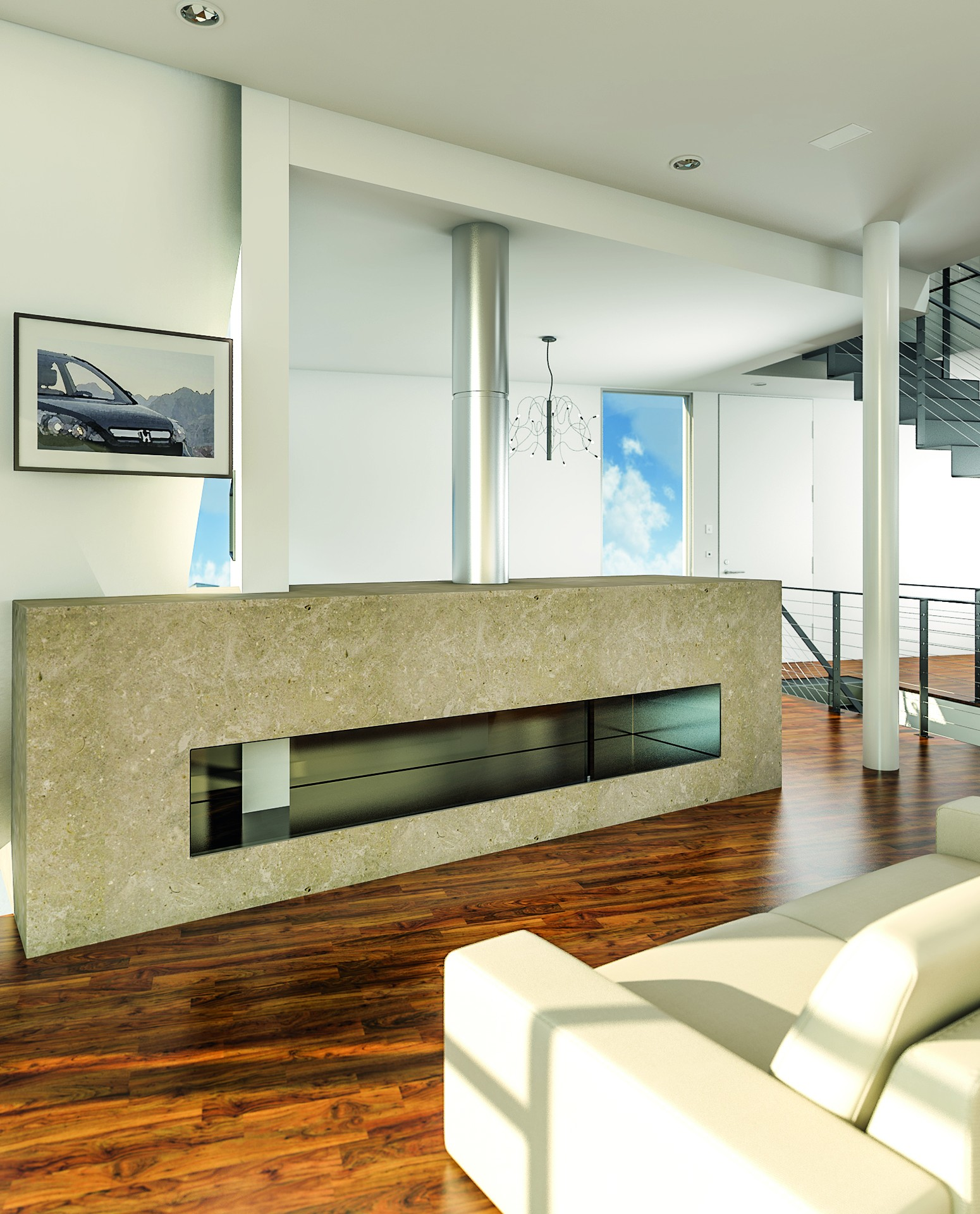 Fireplace limestone material